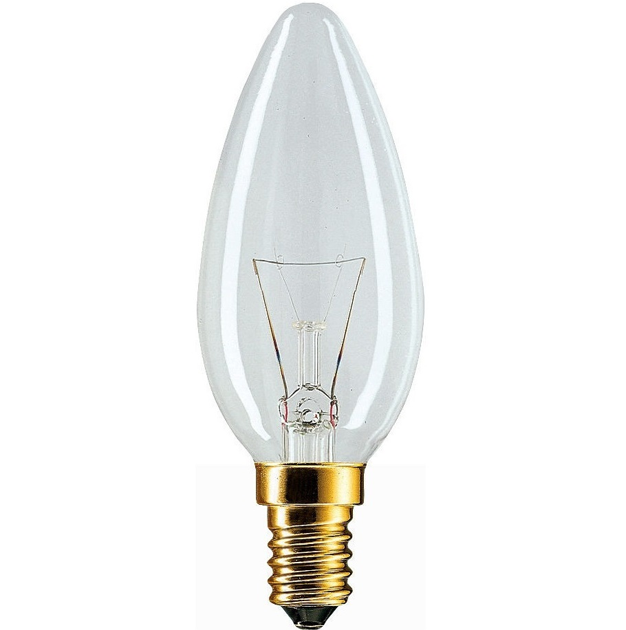 Лампа накаливания PHILIPS E14 60W 230V B35 CL 1CT/10X10F