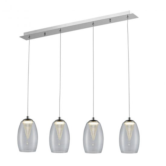 Люстра Zuma Line MD1622-4A Clear Enzo LED